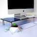 Adjustable Glass Monitor Stand Non-Slip Feet | M&W Black Regular - Image 4