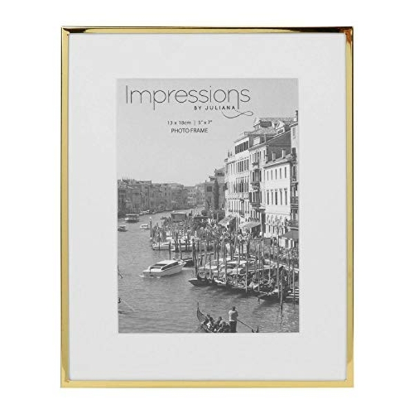 "5"" x 7"" - Impressions Brass Plated Photo Frame"