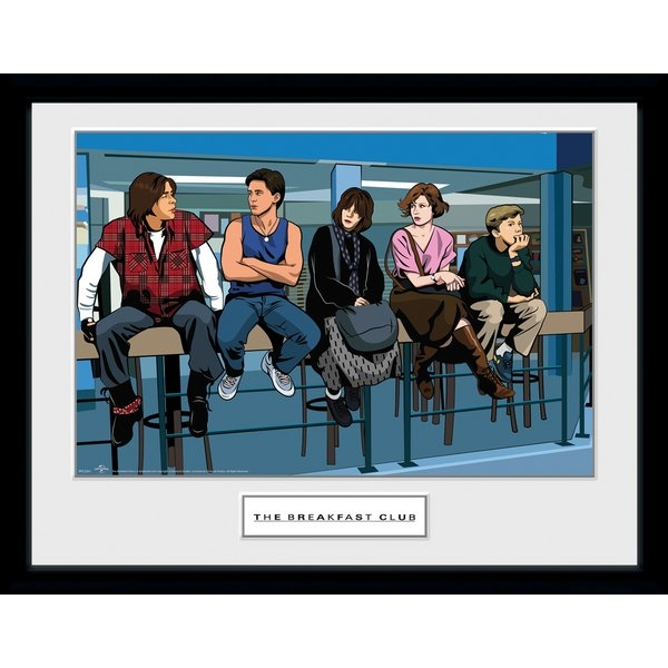 The Breakfast Club Illustration Characters Collector Print