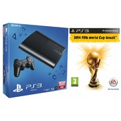 500GB Super Slim Black PS3 Console with FIFA World Cup Brazil 2014 Game