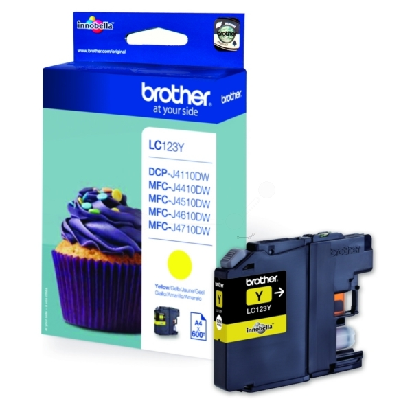 Brother LC-123Y Ink cartridge yellow, 600 pages, 10ml