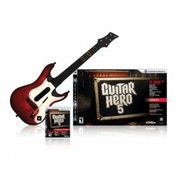 Guitar Hero 5 Game + Wireless Red Guitar Controller PS2