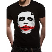 The Dark Knight - Joker Big Face Men's Medium T-Shirt - Black