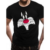 Looney Tunes - Sylvester Face Men's Small T-Shirt - Black