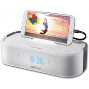 Groov-e TimeCurve Alarm Clock Radio with USB Charging Station White UK Plug