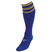 PT 3 Stripe Pro Football Socks LBoys Royal/Gold