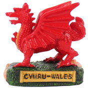 Mini Welsh Dragon Figure Pack Of 12