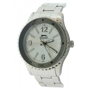Slazenger Mens Quartz Watch With White Dial Analogue Display and Silver Bracelet (SLZ63A)