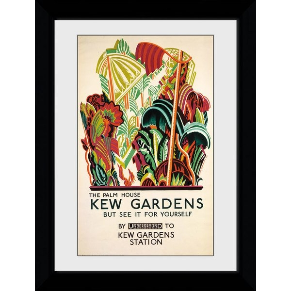 Transport For London Kew Palm House 50 x 70 Framed Collector Print