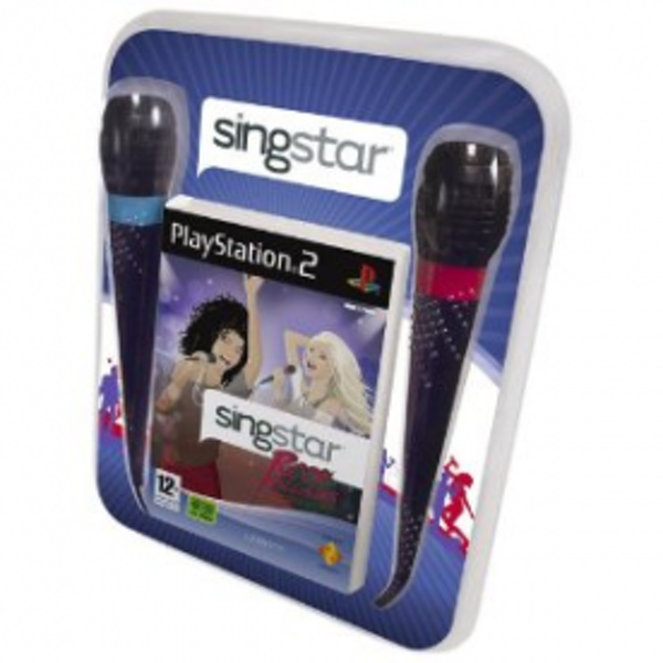 SingStar Rock Ballads Game + Microphones PS2