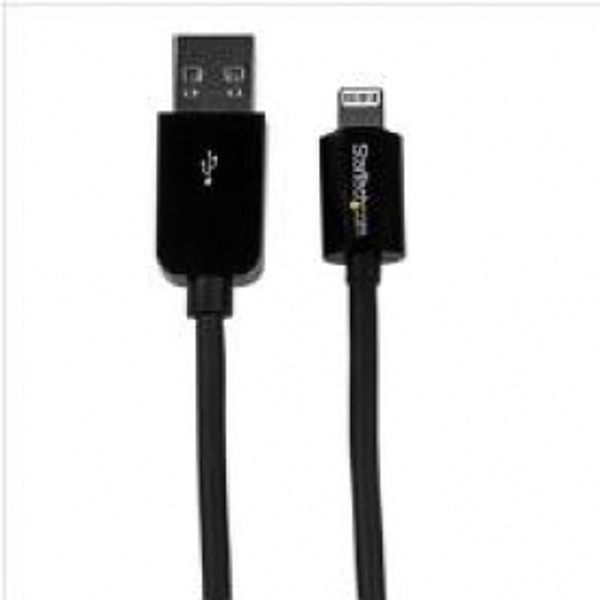StarTech (15cm/6 inch) Short Black Apple 8-pin Lightning Connector to USB Cable for iPhone / iPod / iPad