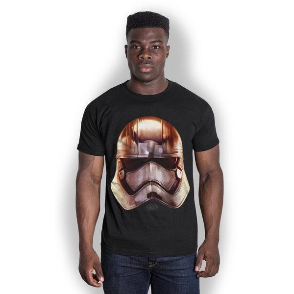 Star Wars - Episode VII Phasma Big Head Unisex XX-Large T-Shirt - Black