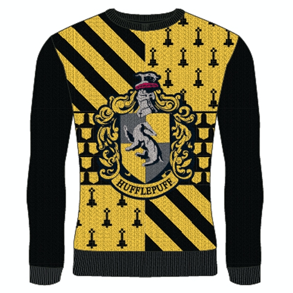 Image of Harry Potter - Hufflepuff Unisex Large Knitted Jumper - Multi-Colour