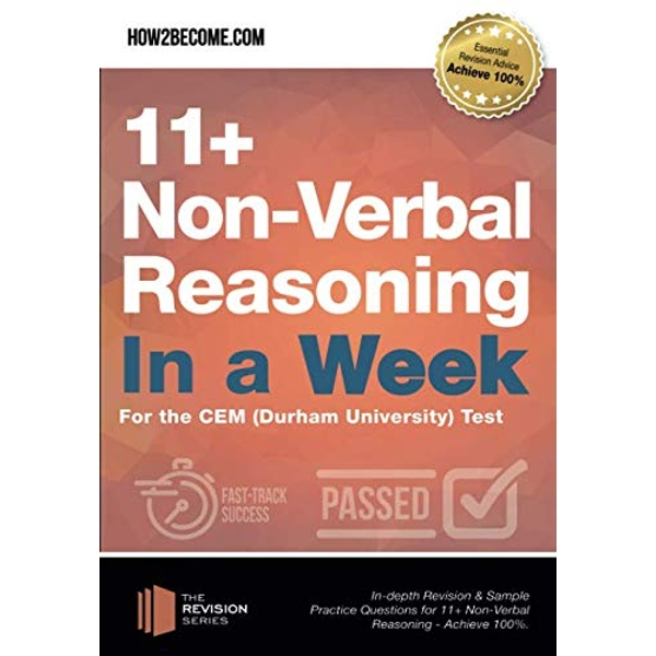 11+ Non-Verbal Reasoning in a Week For the CEM (Durham University) Test Paperback / softback 2018