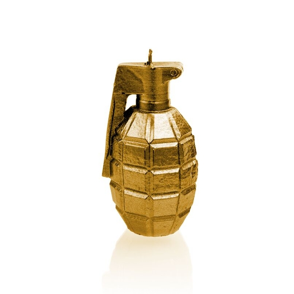 Gold Small Grenade Candle