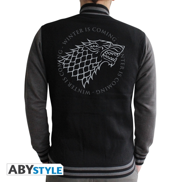Game Of Thrones - Stark Men's XX-Large Sweatshirt - Black/Dark Grey