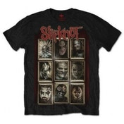 Slipknot New Masks Mens Black T Shirt Small