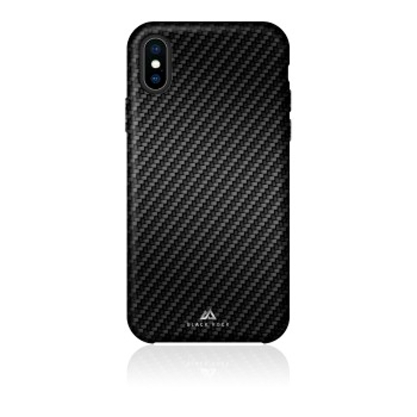 Black Rock - Flex Carbon Cover for Apple iPhone Xs, black (1 ACCESSORES)