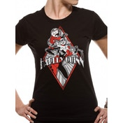 Harley Quinn - Diamond Fitted T-shirt Black X-Large