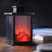 Mini LED Fireplace Lantern Brushed Effect - Image 2