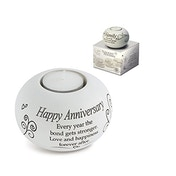Said with Sentiment Tea Light Holders Happy Anniversary