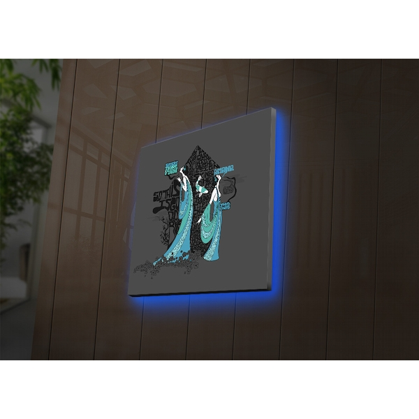 4040DACT-55 Multicolor Decorative Led Lighted Canvas Painting