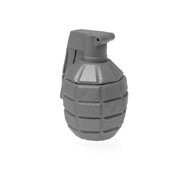 Gray Matt Concrete Grenade For Him Candle - Image 1