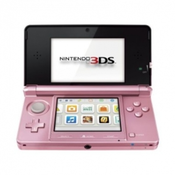 Nintendo 3DS Coral Pink Console & Nintendogs and Cats Game (UK Plug) 3DS