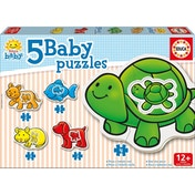 Educa Baby Early Learning Animals Jigsaw Puzzles 5 Piece Set