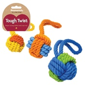 Rosewood Tough Twist Super Strong Rubber Rope Ball Tug 11