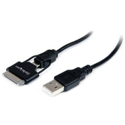 0.65m Apple Dock Connector or Micro USB to USB Combo Cable for iPod iPhone iPad