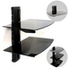 Black Glass Floating Shelf | M&W 1 Tier - Image 5