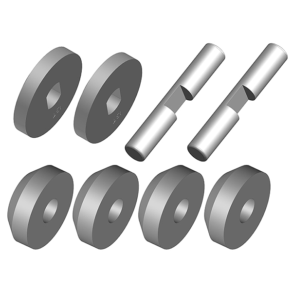Corally Planetary Diff Gears Metal 1 Set