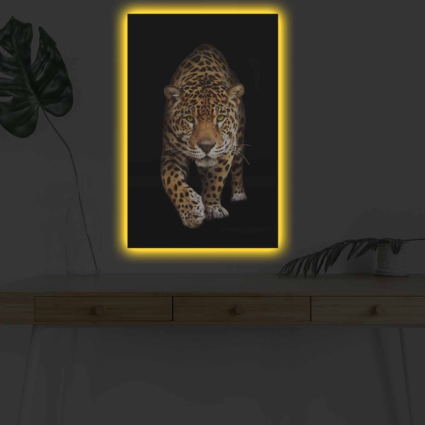 4570DHDACT-055 Multicolor Decorative Led Lighted Canvas Painting