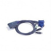 2 Port USB KVM Switch Cable Integrated   Speaker
