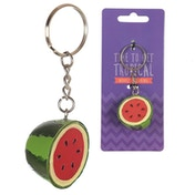 Watermelon Half Tropical Keyring