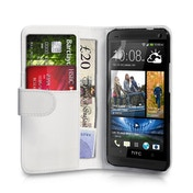 YouSave Accessories HTC One Leather-Effect Wallet Case - White