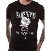 Pierce The Veil - Floral And Fading Men's Small T-Shirt - Black