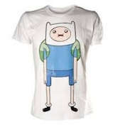 Adventure Time Finn T-Shirt Large White