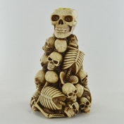 Skull & Skeleton Candle Holder Bone Stack 20cm