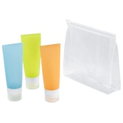 Hama Toiletry Set for Carry-On Luggage, silicone