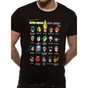 Justice League - Superhero Issues Men's Small T-Shirt - Black