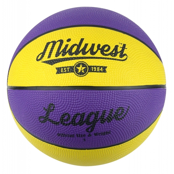 Midwest League Basketball Yellow/Purple Size 5