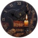 Magical Witching Hour Cat Lisa Parker Design Wall Clock - Image 2
