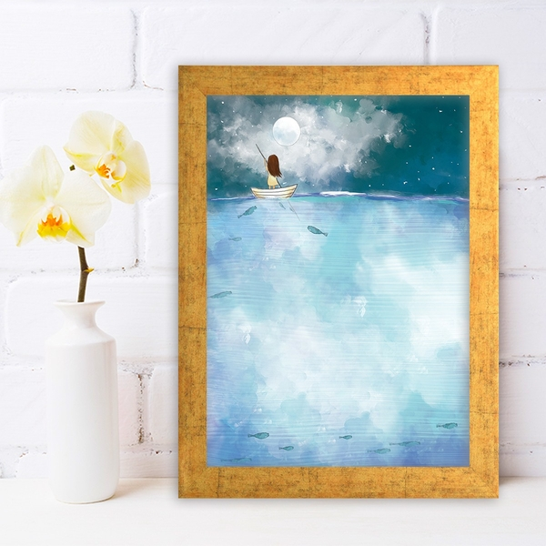 AC473533138 Multicolor Decorative Framed MDF Painting