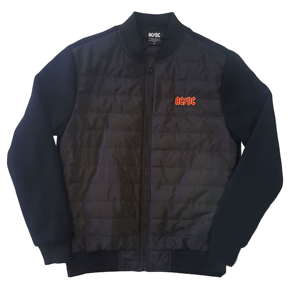 AC/DC - Logo Unisex Small Quilted Jacket - Black