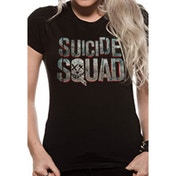 Suicide Squad Logo Fitted Large T-Shirt