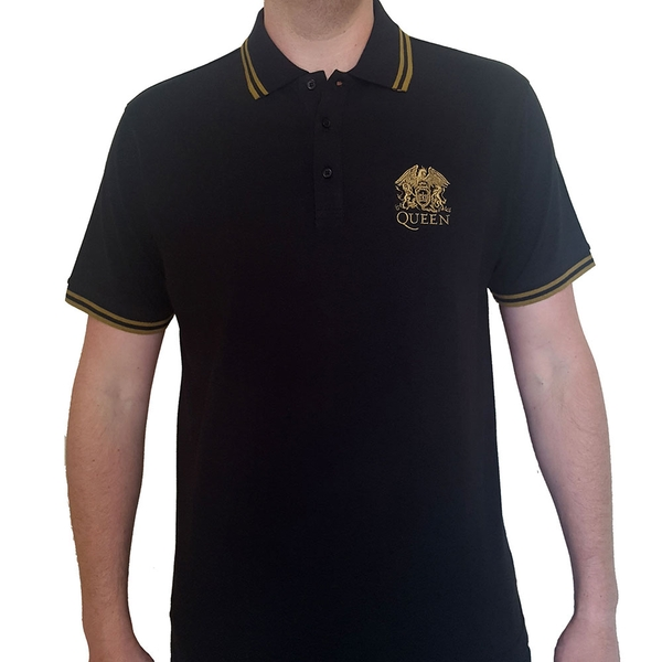 Queen - Crest Logo Unisex Small T-Shirt - Black