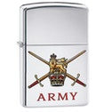Zippo British Army Official Crest High Polish Chrome Finish Windproof Lighter