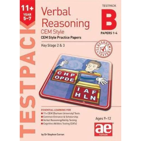 11+ Verbal Reasoning Year 5-7 CEM Style Testpack B Papers 1-4 CEM Style Practice Papers Mixed media product 2019